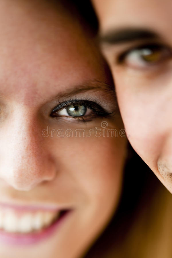 Close-up of a young couple royalty free stock photo