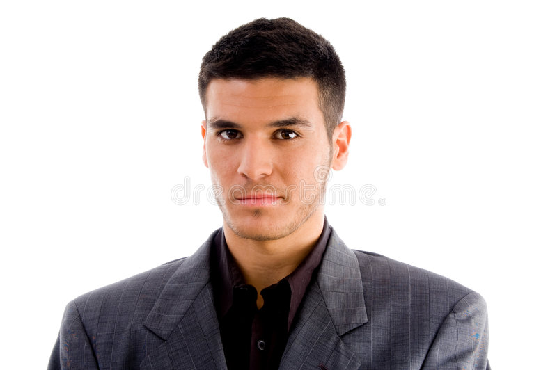 Close up of young executive standing stock photography