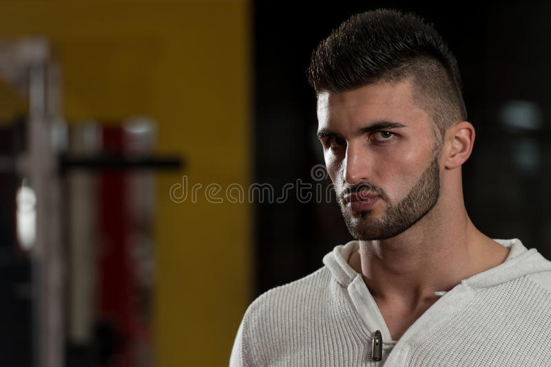 Close-Up Of A Young Male Model stock photography