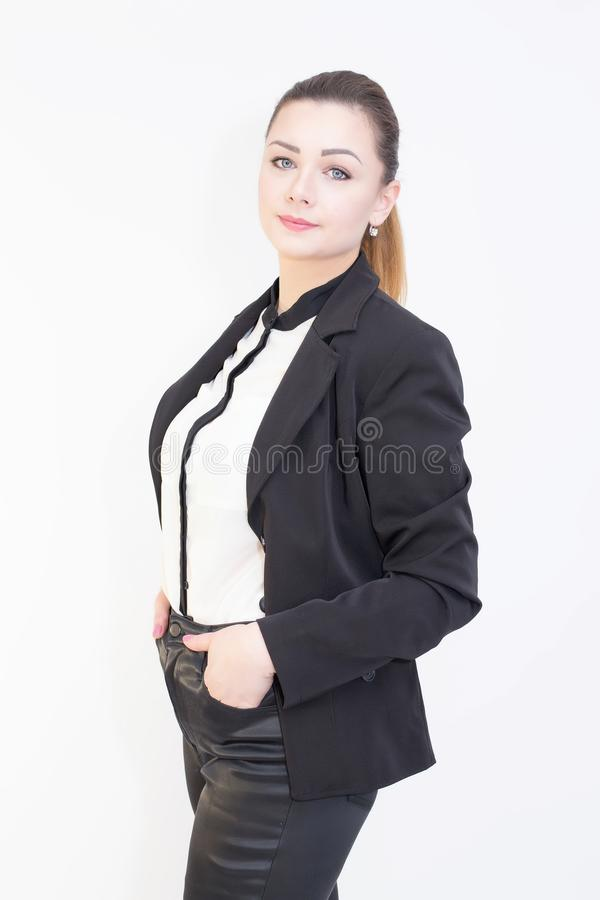 Portrait of a confident young business woman. royalty free stock photography