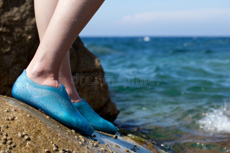 Close-up Of A Young Woman S Feet Royalty Free Stock Photography
