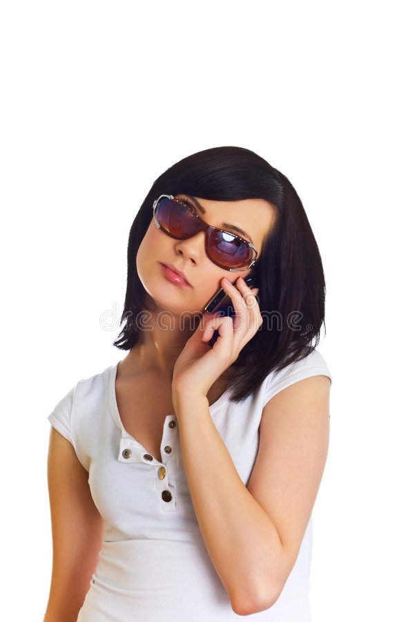 Download Close Up Of Young Woman  Talking On Mobile Phone Stock Photography - Image: 5944302