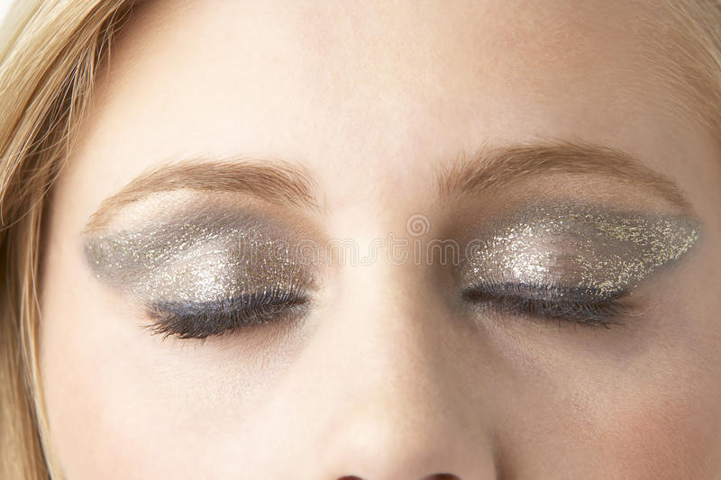 Download Close Up Of Young Woman Wearing Make Up Royalty Free Stock Image - Image: 9388286