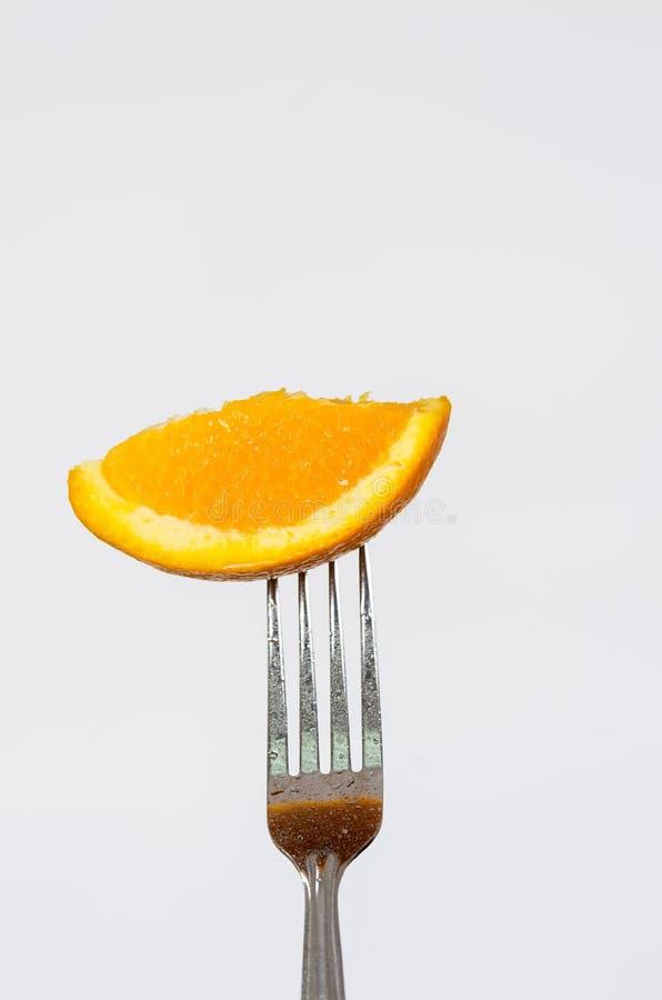 Close-up zilveren vork met prachtig gekleurd royalty-vrije stock foto