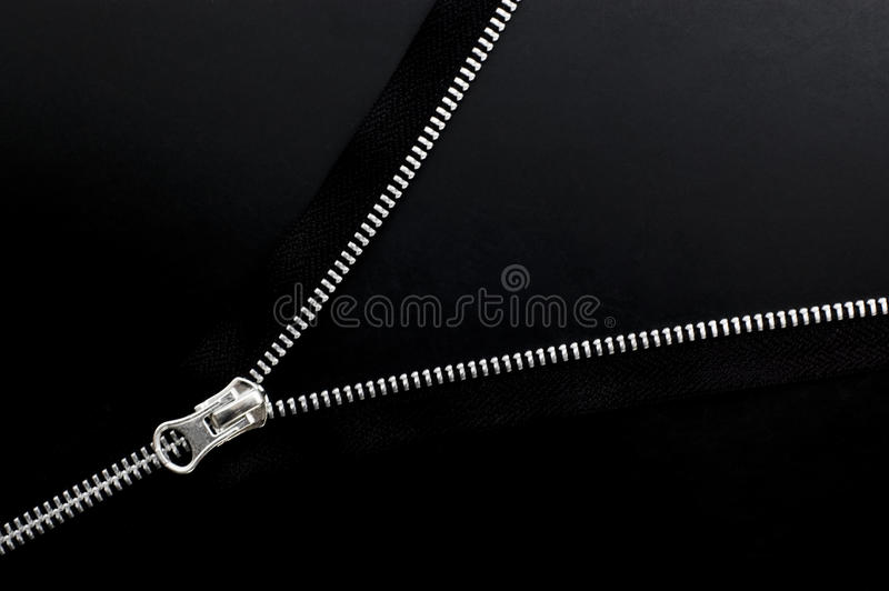Download Close Up Of Zipper On Black Background. Stock Image - Image of close, clothing: 23623539