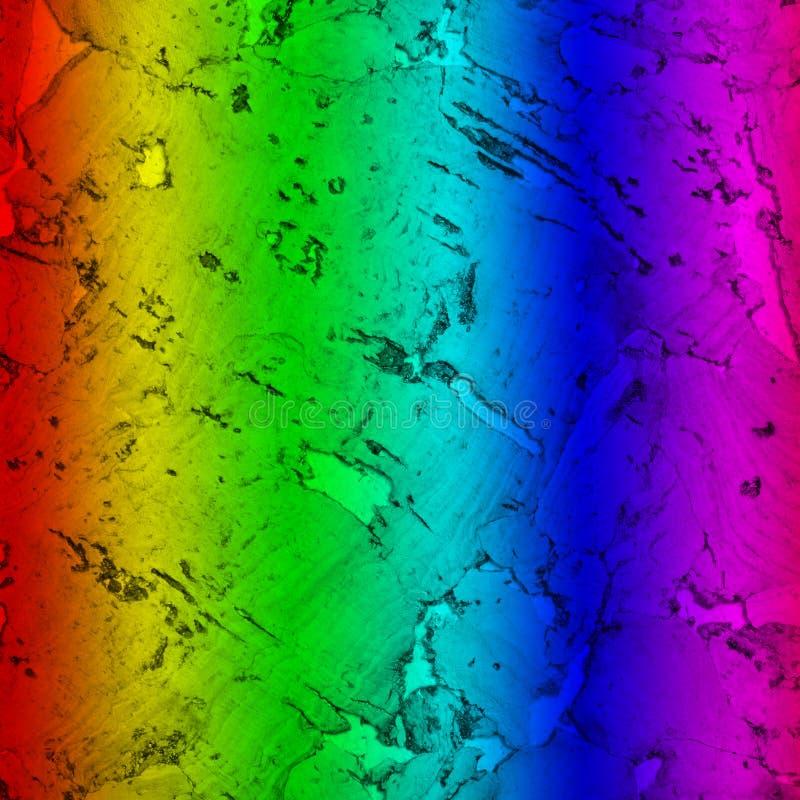 Close-upachtergrond en textuur van cork raads houten oppervlakte, geschilderd spectrum royalty-vrije stock foto's