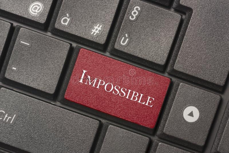 Close-upbeeld van Geen Onmogelijke knoop van toetsenbord van een moderne computer stock afbeeldingen