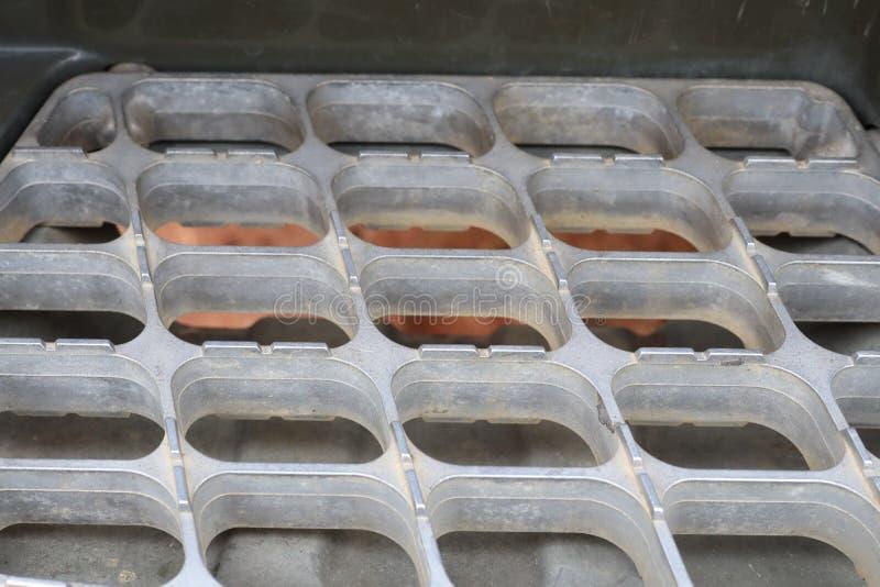 Close-upbeeld van staal, roestvrij staalmateriaal, voorwaarde voor abstracte achtergrond stock fotografie