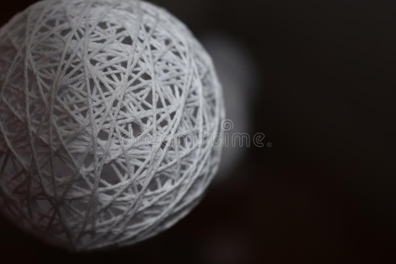 Close-upgebied Blanche White Sphere stock foto