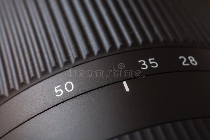 Close-upmening over lens van digitale camera royalty-vrije stock fotografie