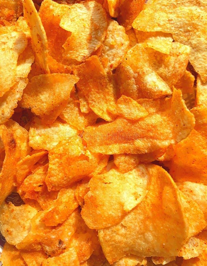 Close-upmening van chips royalty-vrije stock afbeelding