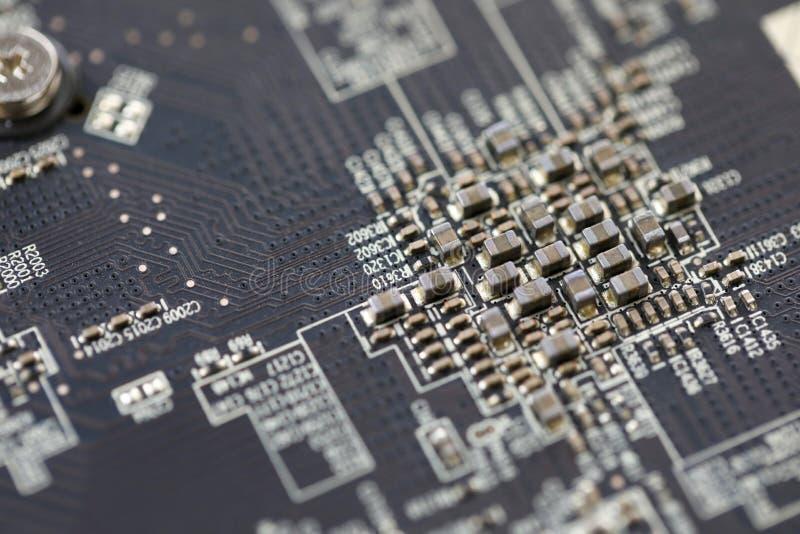 Close-upmening van elektronisch apparaat ??n twee stock foto