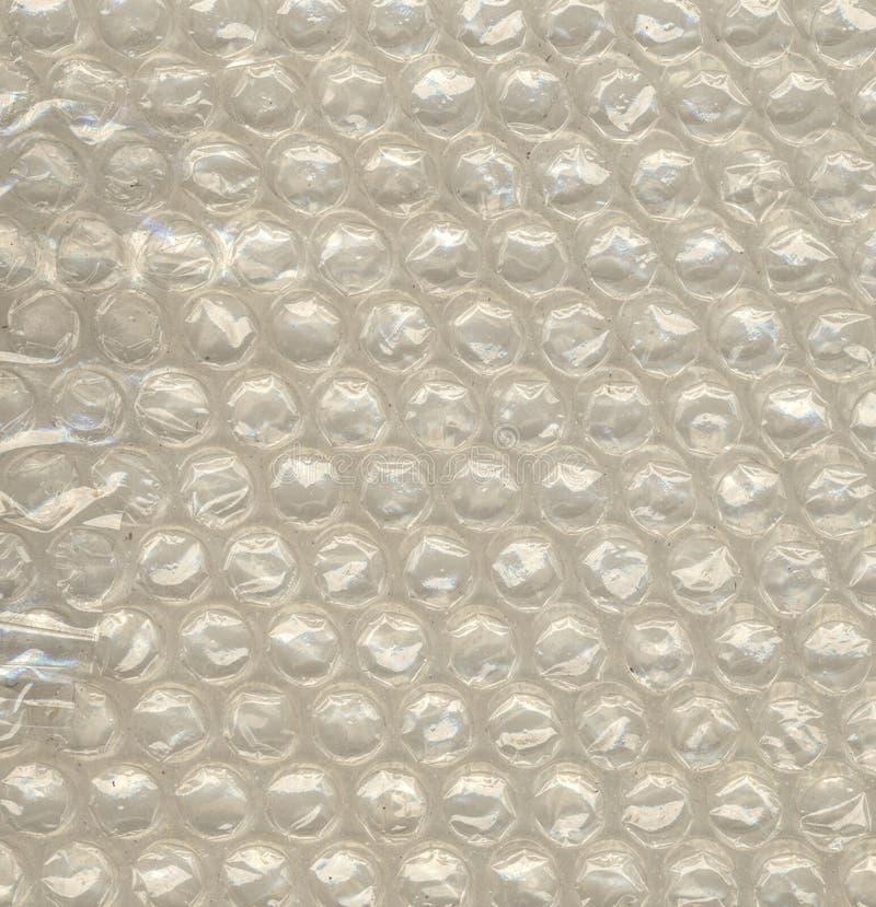 Close-upmening van polyethyleenluchtbel voor de verpakking van het schokbewijs stock afbeelding