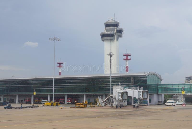Close-upmening van Tan Son Nhat-luchthaven royalty-vrije stock afbeelding