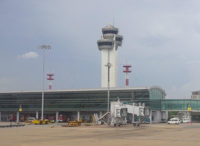 Close-upmening van Tan Son Nhat-luchthaven stock foto