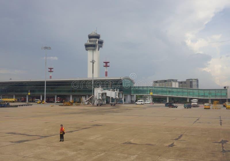 Close-upmening van Tan Son Nhat-luchthaven royalty-vrije stock fotografie