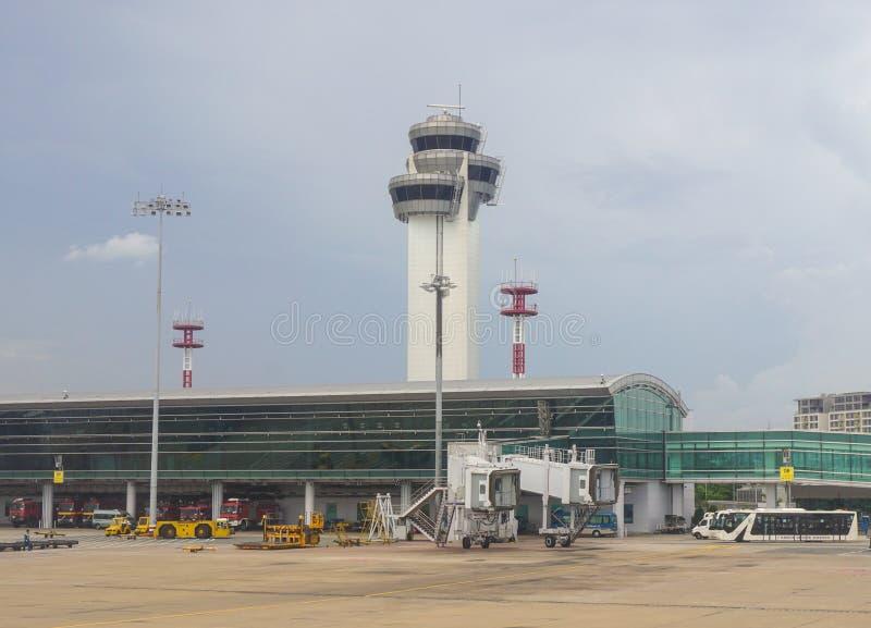 Close-upmening van Tan Son Nhat-luchthaven stock afbeelding