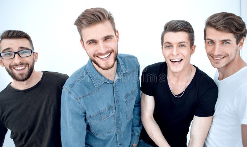close upp en grupp av lyckliga grabbar royaltyfria foton