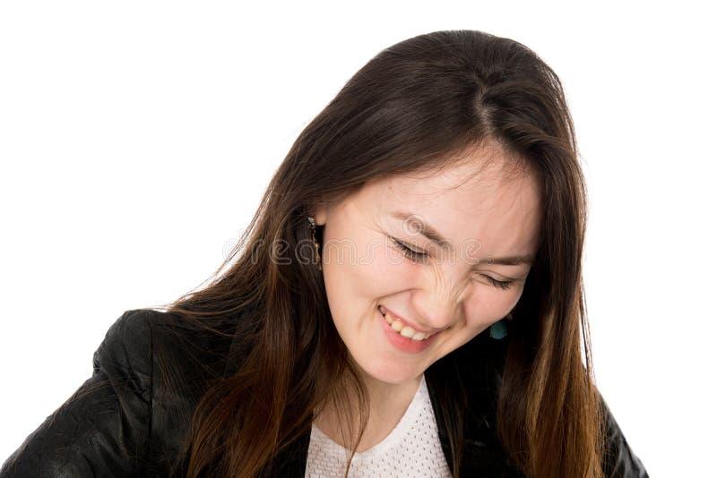 Close-upportret van een jong meisje met een verminderd hoofd royalty-vrije stock foto's