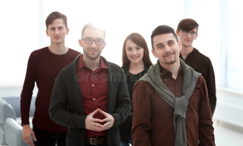 Close-upportret van succesvol commercieel team royalty-vrije stock afbeelding