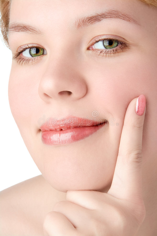 Close-ups beauty girl portrait. Close-ups beauty happy girl portrait royalty free stock images