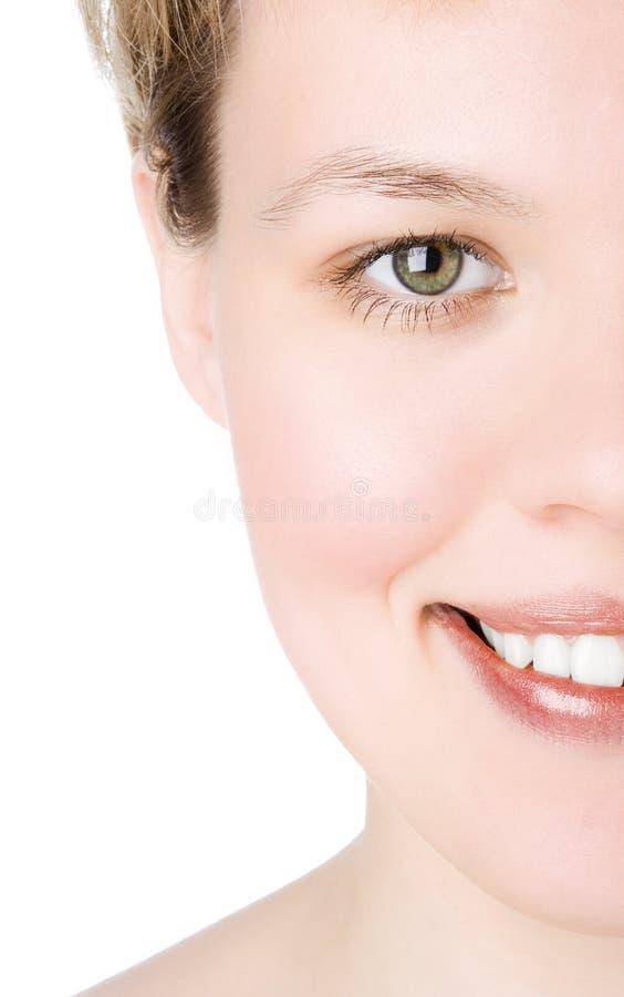 Close-ups Half face royalty free stock photography