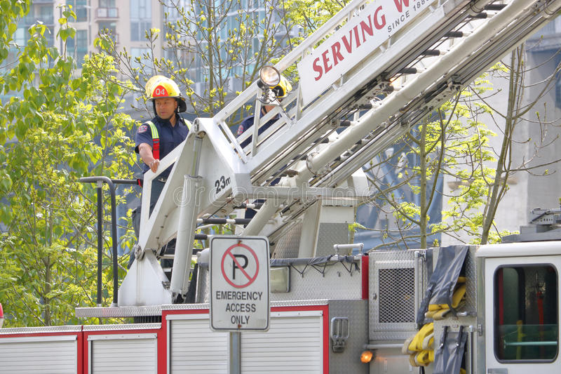 Close on Vancouver Fireman stock image