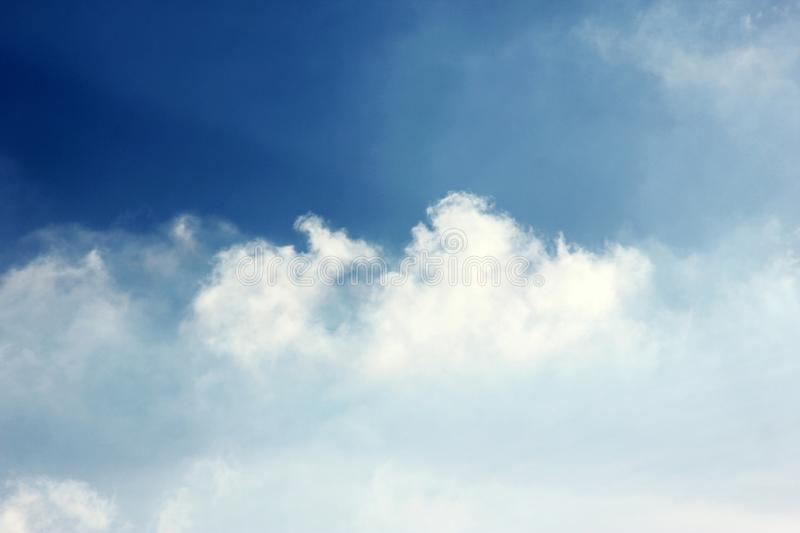 Cloudy blue sky background wallpaper royalty free stock photo