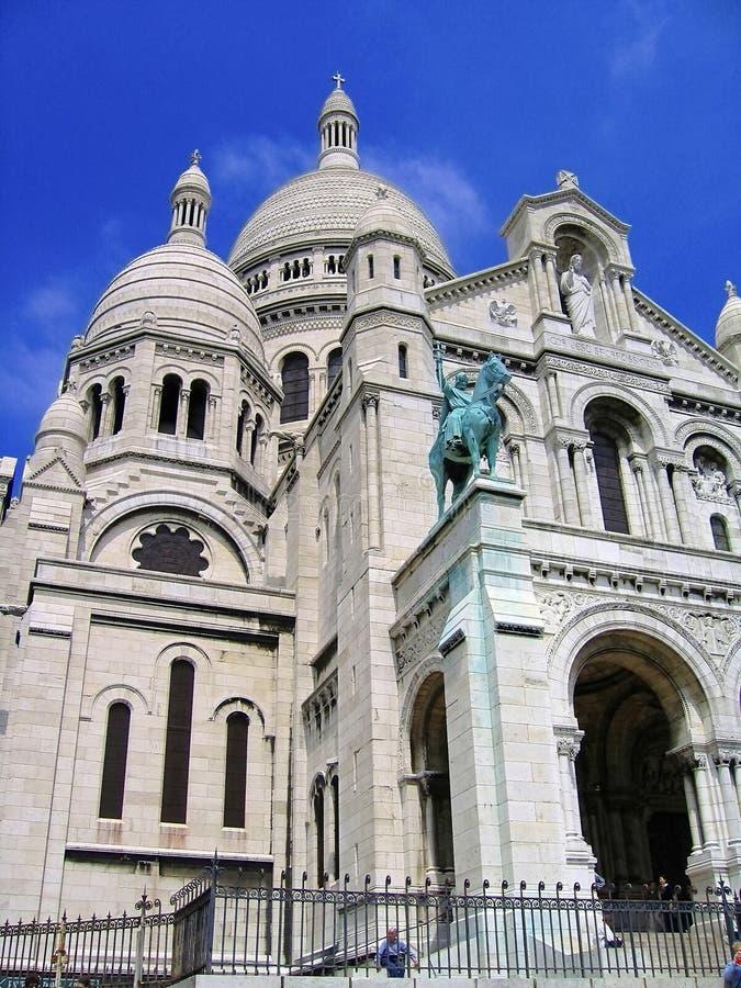 View of Sacre Coeur on Montmatre, Paris, France stock photo