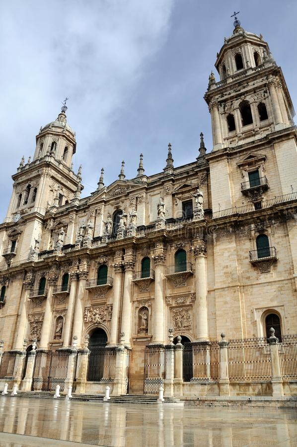 Cathedral in Jaen, Spain. royalty free stock photography