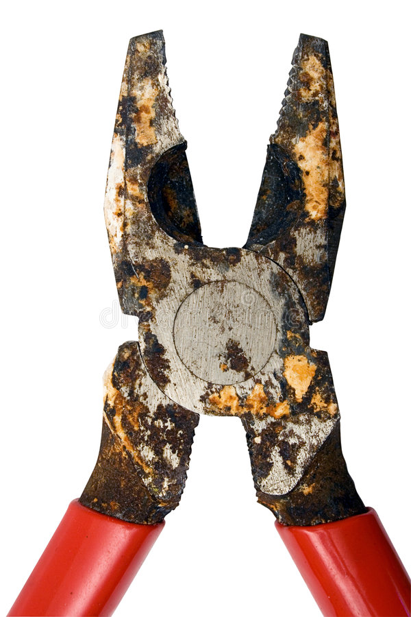 Download Close View On Corroded Pliers W/ Path Stock Image - Image of corrosion, lock: 472103