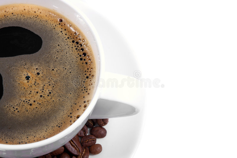 Close view cup of coffee royalty free stock images