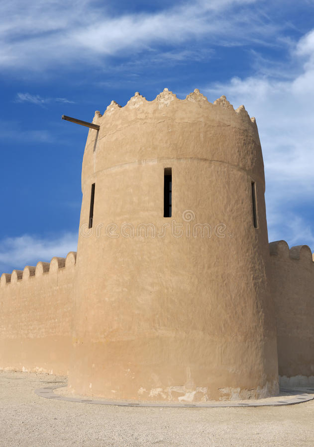Download Close View Of The Eastern Tower Of Riffa Fort Stock Image - Image: 23598895
