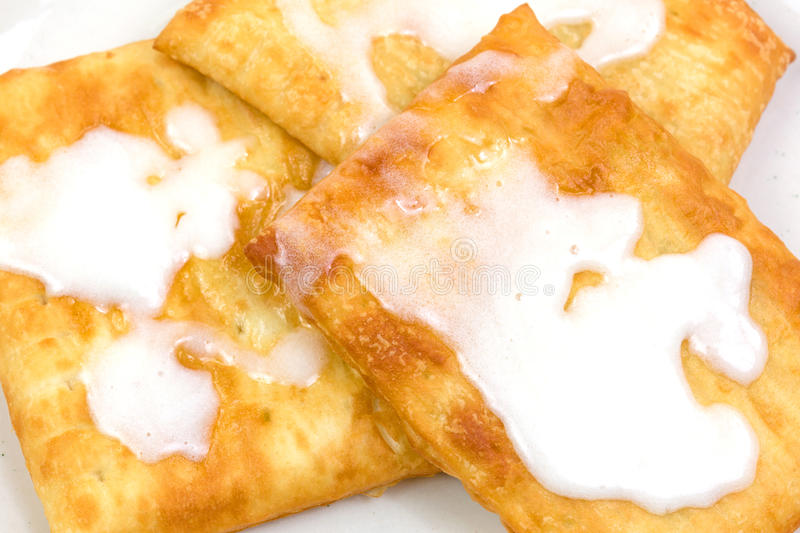Close view of a group of iced toaster pastries stock photo
