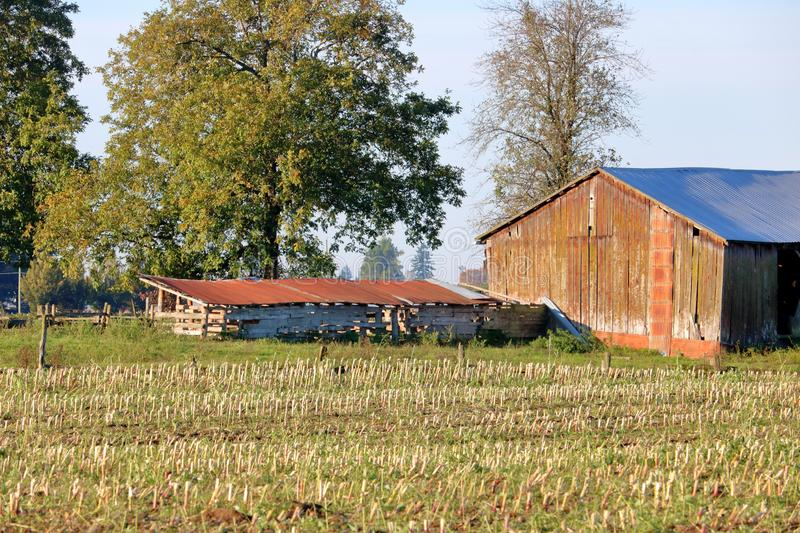 Pioneer Log Farm Building for Shelter royalty free stock images