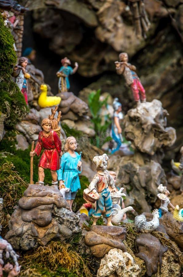 Close view at one of attractions of Amalfi - a Fontana Cap e Ciuccio, Amalfi, Italy stock photo