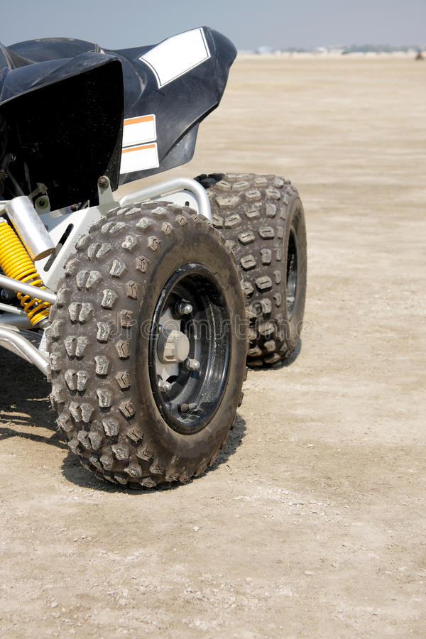 Close View Of The Rear Desert Scooter Royalty Free Stock Photos