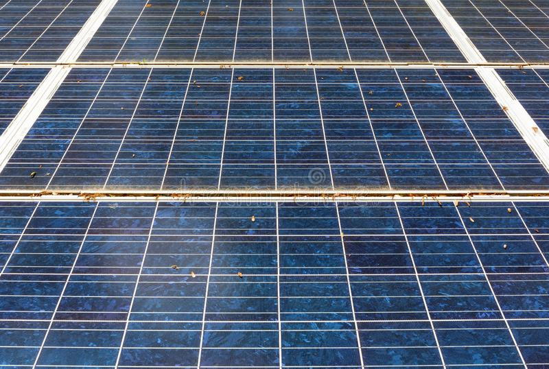Close view of solar panels stock image