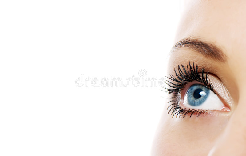 Close view of woman eye royalty free stock photo