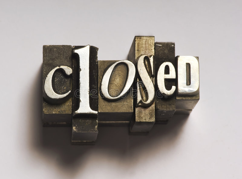 Download Closed stock photo. Image of print, closed, entry, business - 5003312