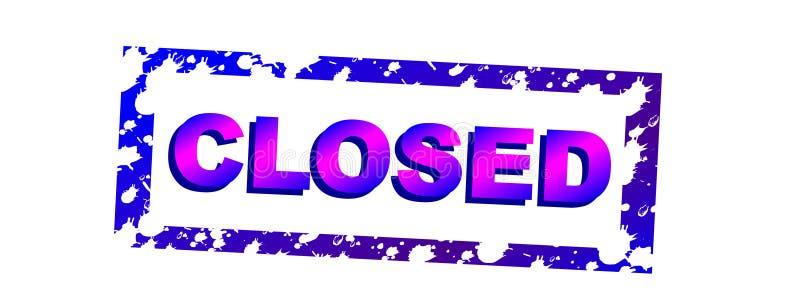 Closed stock illustration