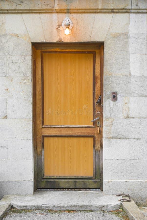 Closed back door