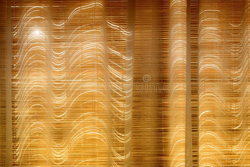 Closed bamboo blinds stock images