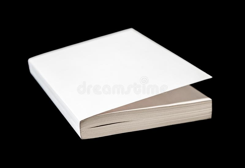Closed blank book isolated on black. Closed blank book mockup, isolated on black royalty free stock photos