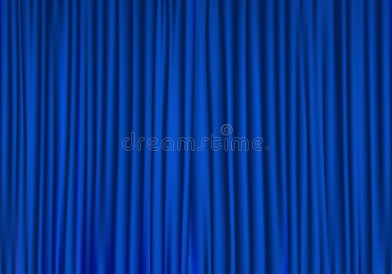 Blue curtains 1 royalty free illustration