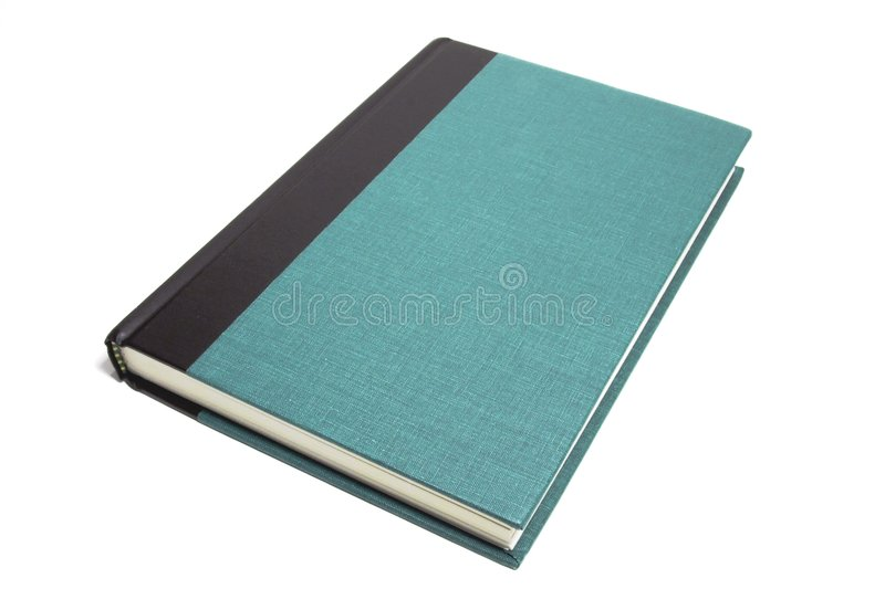 Closed book. A closed green book isolated against a white background royalty free stock photos
