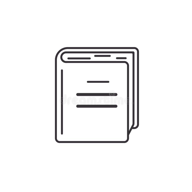 Thick Book Icon, Outline Style Stock Vector - Illustration ...