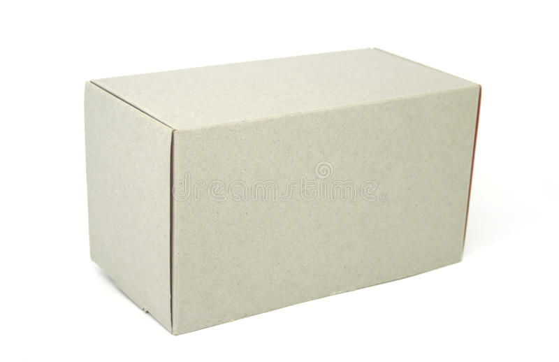 Closed cardboard box isolated on white. Background royalty free stock photos