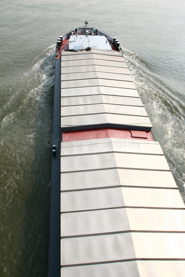 Closed Cargo Ship Stock Image