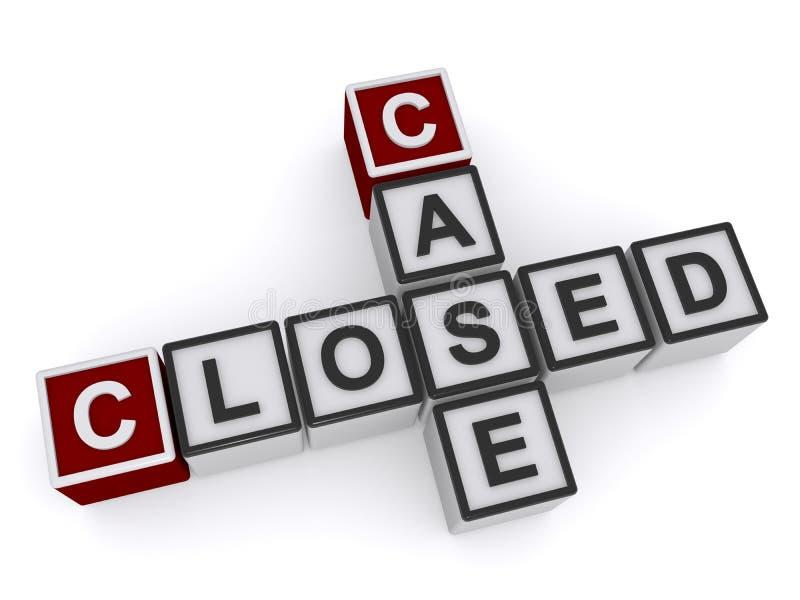 Closed case heading. From letter blocks on white background vector illustration